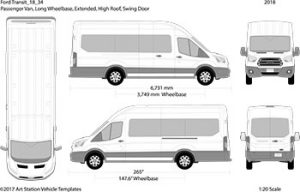 Ford Transit Bus Outline